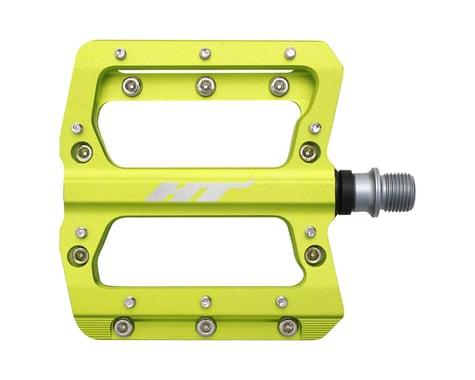 """HT AN14A Nano Pedals - Platform, Aluminum, 9/16"""", Apple Green"""