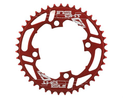 INSIGHT 4-Bolt Chainring (Red) (43T)