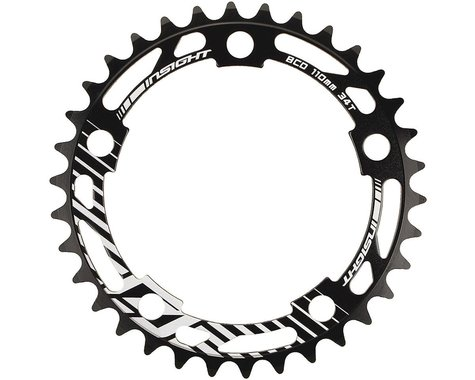 INSIGHT 5-Bolt Chainring (Black) (37T)
