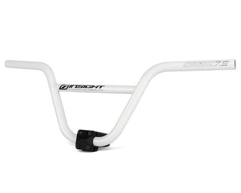 """INSIGHT Pro Chromoly BMX Handlebar (White) (7.5"""" Rise)"""