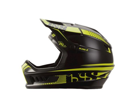iXS Xact Mountain Bike Helmet (Black/Green) (S/M)