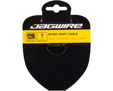Jagwire Sport Slick Derailleur Cable (Stainless) (1.1x2300mm) (1)