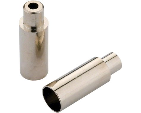 Jagwire 5mm to 4mm Step Down Open End Caps Bottle of 100, Chrome Plated