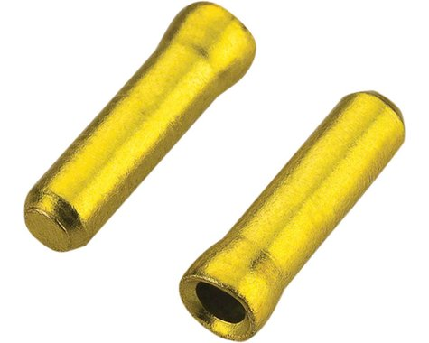Jagwire 1.2mm Cable End Crimps Gold Bottle/500