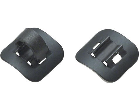 Jagwire Alloy Stick-On Guides with C-Clips (Black) (Box of 4)