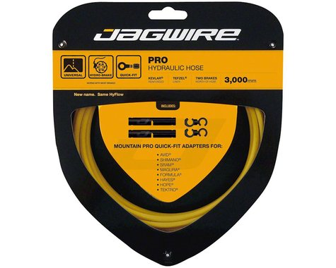 Jagwire Mountain Pro Hydraulic Disc Hose Kit (Yellow) (3000mm)