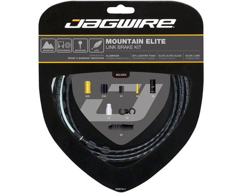 Jagwire Elite Link Brake Cable Kit (Black) (Teflon) (1350/2350mm) (2)