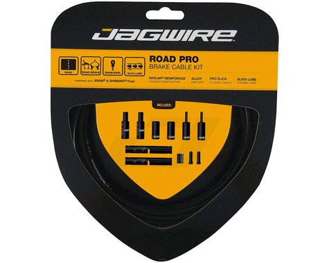 Jagwire Road Pro Brake Cable Kit (Black) (Stainless) (1500/2800mm) (2)