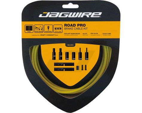 Jagwire Road Pro Brake Cable Kit (Yellow) (Stainless) (1500/2800mm) (2)