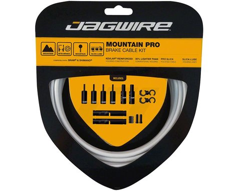 Jagwire Mountain Pro Brake Cable Kit (White) (Stainless) (1350/2350mm) (2)