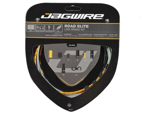 Jagwire Road Elite Link Brake Cable Kit (Gold) (Teflon) (1350/2350mm) (2)