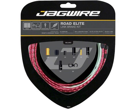 Jagwire Road Elite Link Brake Cable Kit (Red) (Teflon) (1350/2350mm) (2)