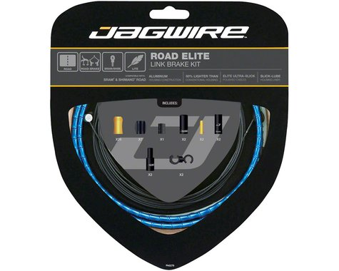 Jagwire Road Elite Link Brake Cable Kit (Blue) (Teflon) (1350/2350mm) (2)