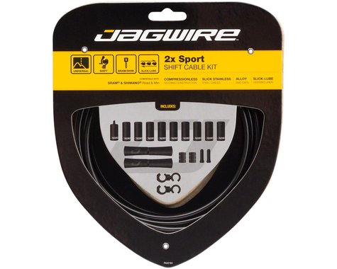 Jagwire 2x Sport Shift Cable Kit SRAM/Shimano (Black)