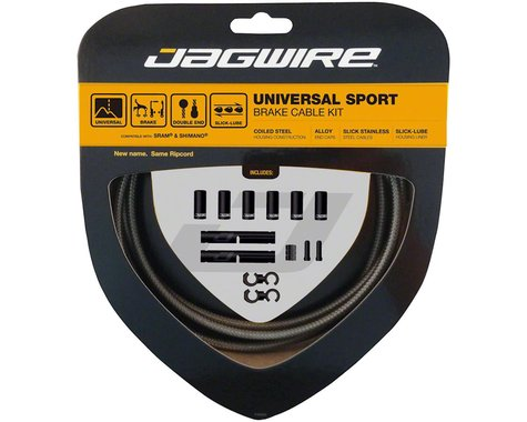 Jagwire Universal Sport Brake Cable Kit (Carbon Silver) (Stainless)