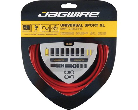 Jagwire Universal Sport Shift XL Cable Kit (Red)