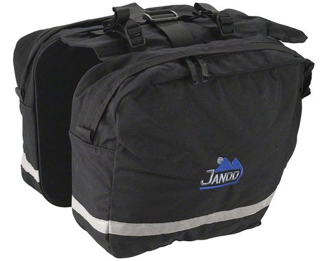 Jandd Saddle Bag Pannier Set: Black