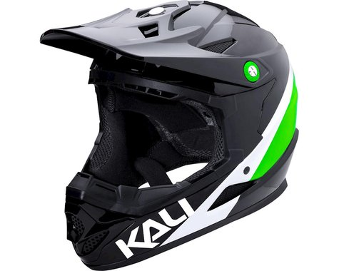 Kali Zoka Switchback Youth Helmet (Gloss Black/Lime/White) (Kids M)
