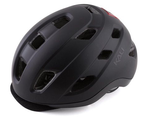 Kali Traffic Helmet w/ Integrated Light (Solid Matte Black) (S/M)