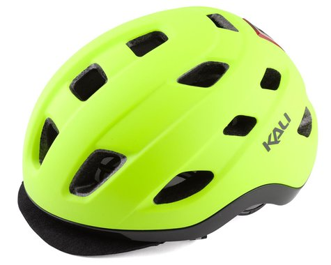 Kali Traffic Helmet w/ Integrated Light (Matte Fluorescent Yellow) (S/M)