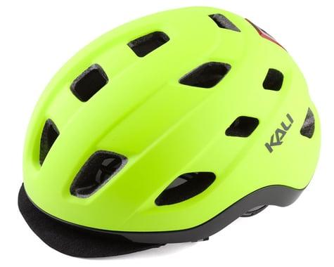 Kali Traffic Helmet w/ Integrated Light (Matte Fluorescent Yellow) (L/XL)