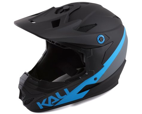 Kali Zoka Pinner Full Face Helmet (Matte Black/Blue/Grey)