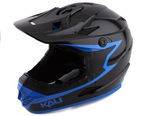 Kali Zoka Grit Full Face Helmet (Gloss Black/Blue) (XL)
