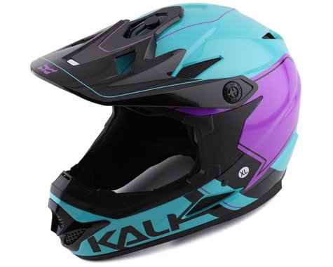 Kali Zoka Switchback Full Face Helmet (Gloss Blue/Purple/Black) (XL)