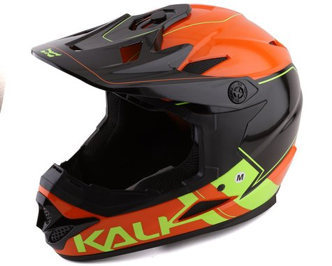 Kali Zoka Switchback Full Face Helmet (Gloss Orange/Fluo Yellow/Black) (L)
