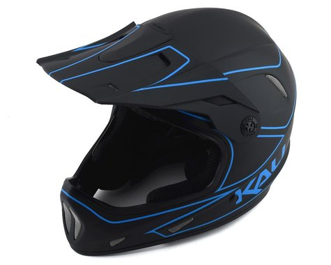 Kali Alpine Rage Full Face Helmet (Matte Black/Blue) (XS)