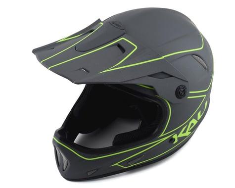 Kali Alpine Rage Full Face Helmet (Matte Grey/Fluorescent Yellow) (XL)
