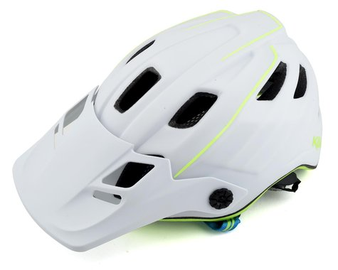 Kali Maya 2.0 Helmet (Matte White/Fluorescent Yellow)