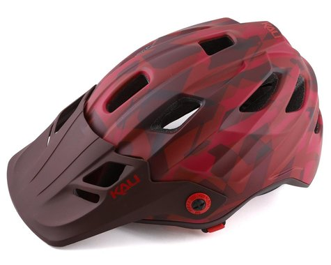 Kali Maya 3.0 Mountain Helmet (Camo Matte Red/Burgandy) (S/M)