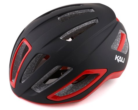 Kali Uno Road Helmet (Solid Matte Black/Red) (S/M)