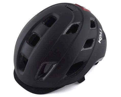 Kali Traffic Helmet w/ Integrated Light (Solid Matte Black) (L/XL)
