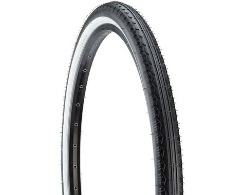 Kenda Cruiser K130 Tire - 26 x 2.125, Clincher, Wire, Black/White, 22tpi