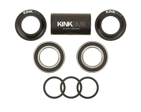 Kink Mid Bottom Bracket Kit (Matte Black) (19mm)