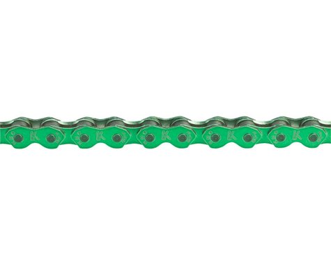 "KMC K710 Kool Chain - Single Speed 1/2"" x 1/8"", 112 Links, Shiny Green"