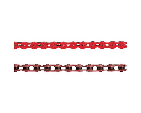"KMC K710SL SuperLite Kool Single Speed Chain (Red) (100 Links) (1/8"")"