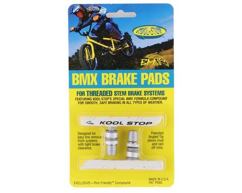 Kool Stop BMX Brake Pads (Threaded) (White) (Pair)