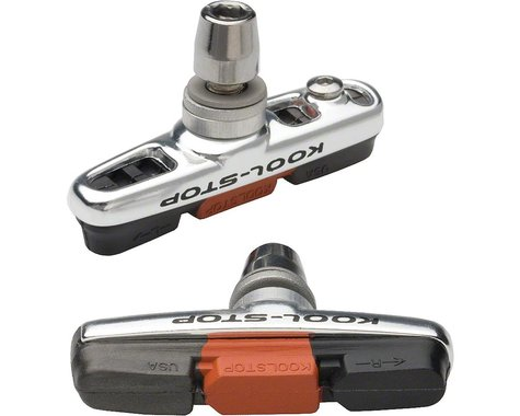 Kool Stop Cantilever Cross Brake Pads (Black/Salmon) (Pair)