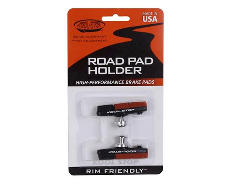 Kool Stop Dura 2 road pads, holder with pads - black  pr