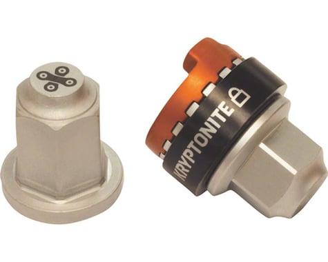 Kryptonite Security Wheelnutz Solid Axle Locking Nuts (Silver) (3/8)