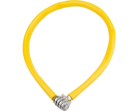 Kryptonite Keeper 665 Cable Lock w/ 3-Digit Combo (Yellow) (2.13' x 6mm)