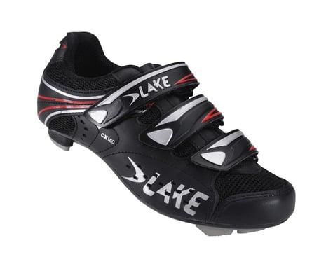 Lake CX160 Road Shoes (Black/Red)