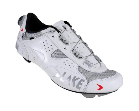 Lake CX226 Road Shoes (White/Silver)