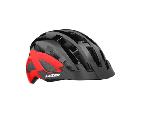 Lazer Compact DLX Helmet (Black/Red) (Universal Adult)