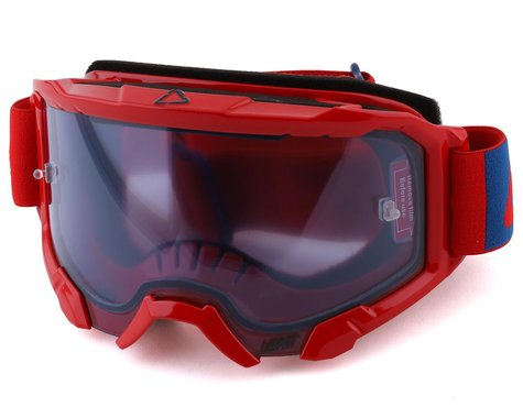 Leatt Velocity 4.5 Goggle (Red) (Blue 52% Lens)