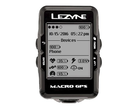 Lezyne Macro GPS Cycling Computer (Black)