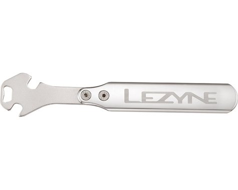 Lezyne CNC Alloy Pedal Rod Tool w/ 15mm 30/60° Openings w/ Bottle Opener